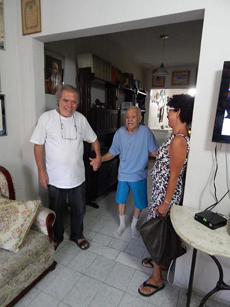 Artista plástico, pintor e compositor, José MArques de Sena conteporâneo de Bibiano. Com Pedro Ferrer e Anna Jácome.
