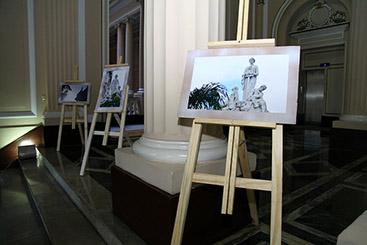 Exposição de fotos das escultras do palácio